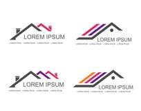 Calibre de conception de logo de vecteur d'immobiliers Image stock