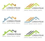 Calibre de conception de logo de vecteur d'immobiliers Photo libre de droits