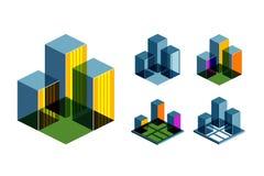Calibre de conception de logo de vecteur d'immobiliers Business Images stock