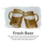 Calibre de conception de logo de vecteur de bière bar, icône de brasserie illustration de vecteur