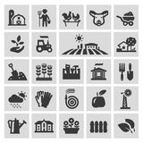 Calibre de conception de logo de vecteur de ferme Jardinage Photo libre de droits