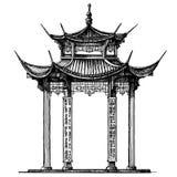 Calibre de conception de logo de vecteur de l'Asie Temple ou illustration libre de droits