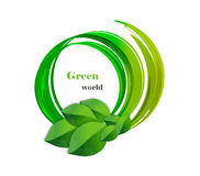 Calibre de conception de logo de vecteur de nature écologie ou bio Photographie stock libre de droits