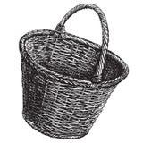 Calibre de conception de logo de vecteur de panier en osier Photo libre de droits