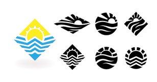 Calibre de conception de logo de vecteur de voyage Photographie stock