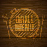 Calibre de conception de menu de gril Photographie stock