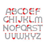 Calibre de conception de personnages d'alphabet de conduite d'eau Photographie stock libre de droits
