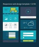 Calibre de conception de site Web illustration stock
