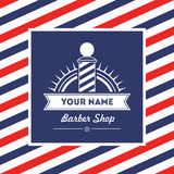 Calibre de conception de vecotr de signe de salon de coiffure de salon de coiffure Photo libre de droits