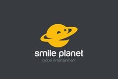 Calibre de conception de vecteur d'abrégé sur logo de planète de sourire Photos libres de droits