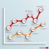 Calibre de conception de vecteur d'Infographics Image stock