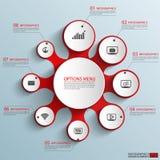Calibre de conception de vecteur d'Infographics Photos libres de droits