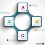 Calibre de conception de vecteur d'Infographics Images libres de droits