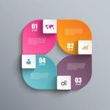 Calibre de conception de vecteur d'Infographics Photos stock