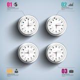 Calibre de conception de vecteur d'Infographics Photo libre de droits