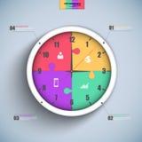 Calibre de conception de vecteur d'Infographics Photo stock