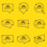 Calibre de conception de vecteur de bulle de la parole de citation illustration libre de droits