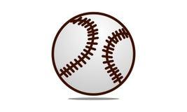 Calibre de conception de logo de base-ball Images stock