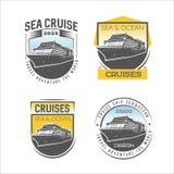 Calibre de conception de logo de croisière illustration libre de droits