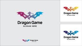 Calibre de conception de logo de dragon, illustration de vecteur, logo de jeu illustration de vecteur