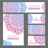 Calibre de conception de modèle de mandala Peut être employé pour la carte de visite professionnelle de visite ou le livret, bann Photographie stock