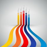 Calibre de conception moderne avec les bannières numérotées - peut être employé pour I Photographie stock