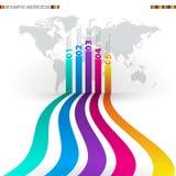 Calibre de conception moderne avec les bannières numérotées - peut être employé pour I Images libres de droits