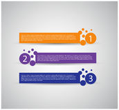 Calibre de conception moderne/bannières numérotées Photo stock