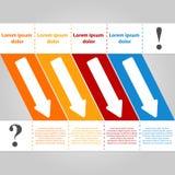 Calibre de conception moderne infographic illustration de vecteur