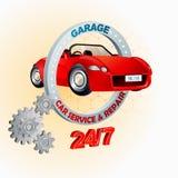Calibre de conception moderne pour le service de garage, de voiture et la réparation, signe Photographie stock libre de droits