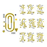 Calibre de conception de nombre de tendance illustration stock