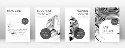 Calibre de conception de page de couverture Disposition à la mode de brochure illustration de vecteur