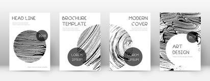 Calibre de conception de page de couverture Disposition à la mode de brochure illustration stock