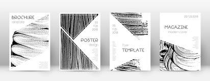 Calibre de conception de page de couverture Layo de brochure de triangle illustration stock