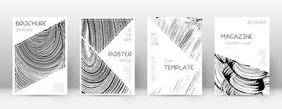 Calibre de conception de page de couverture Layo de brochure de triangle illustration libre de droits