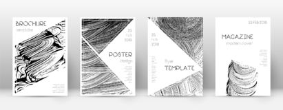 Calibre de conception de page de couverture Layo de brochure de triangle illustration de vecteur