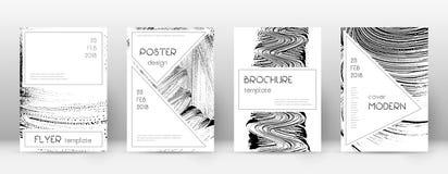 Calibre de conception de page de couverture Layou élégant de brochure illustration de vecteur