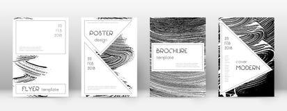 Calibre de conception de page de couverture Layou élégant de brochure illustration stock
