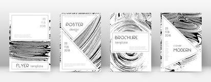 Calibre de conception de page de couverture Layou élégant de brochure illustration libre de droits