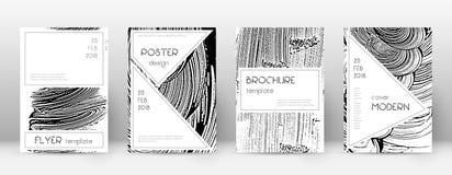 Calibre de conception de page de couverture Layou ?l?gant de brochure illustration stock
