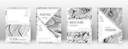 Calibre de conception de page de couverture Layou ?l?gant de brochure illustration libre de droits