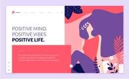 Calibre de conception de page Web pour la beauté, station thermale, bien-être, produits naturels, cosmétiques, soin de corps, la  Photographie stock