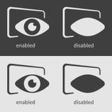 Calibre de conception de programm de concept d'oeil illustration de vecteur