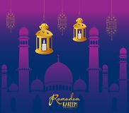 Calibre de conception de Ramadan Kareem Wallpaper Images libres de droits