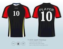 Calibre de conception de sport de T-shirt pour le club du football ou tous les vêtements de sport Photos libres de droits