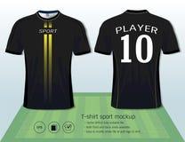 Calibre de conception de sport de T-shirt pour le club du football ou tous les vêtements de sport Photo stock
