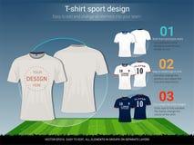 Calibre de conception de sport de T-shirt pour le club du football ou tous les vêtements de sport Image stock