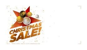Calibre de conception de vente de Joyeux Noël photographie stock libre de droits
