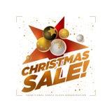 Calibre de conception de vente de Joyeux Noël images stock