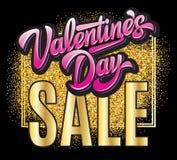 Calibre de couleur de vecteur pour la conception d'affiche à la vente du jour de valentine image libre de droits